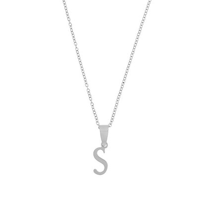 Necklace - Initial Long (silver)*