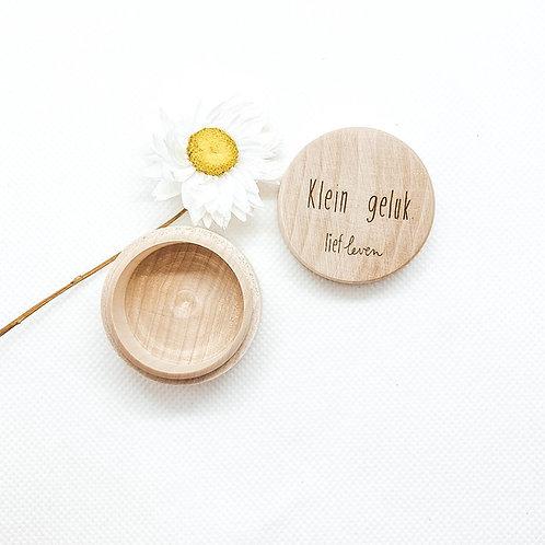 Houten doosje met deksel • Klein geluk