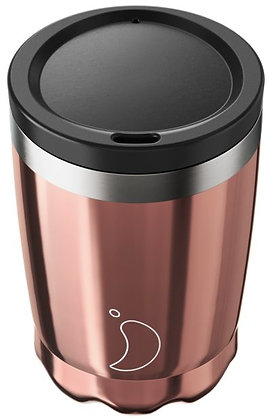Coffee Cup 340ml Chrome Rose Gold