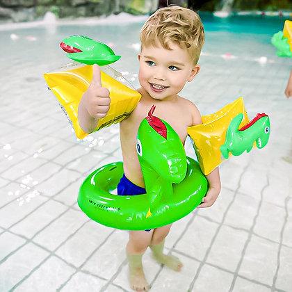 Zwembandjes en zwemband dinosaurus