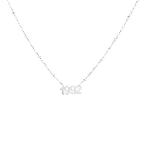 Necklace - Year of Birth (silver)*