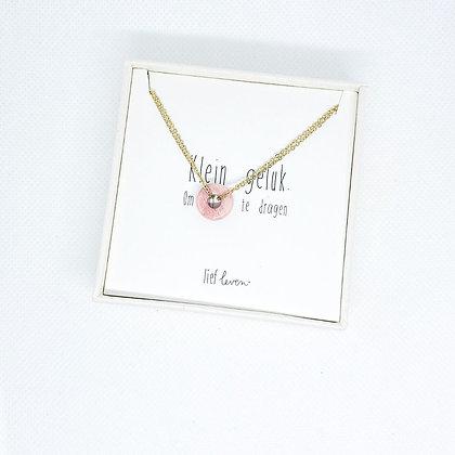 Armband steen roze • Liefde (goud)