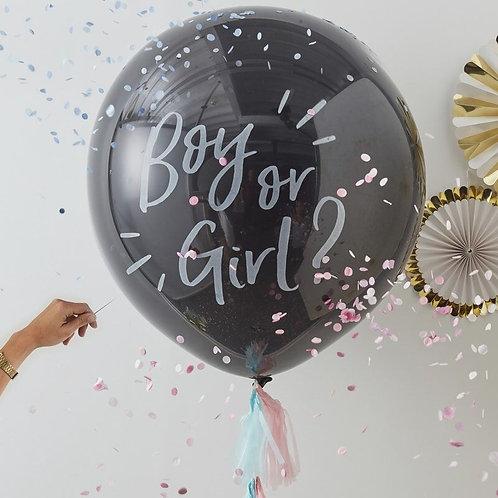 BOY OR GIRL GENDER REVEAL BALLOON