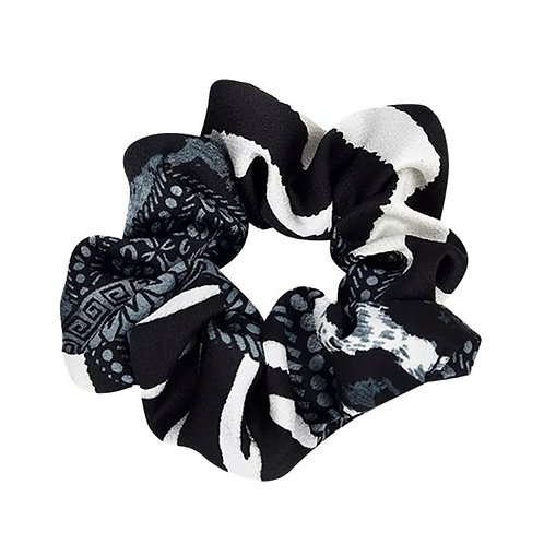 Scrunchie Pattern Black White