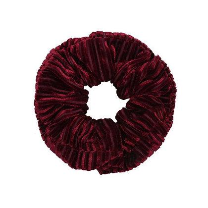 Scrunchie Velvet crushed red