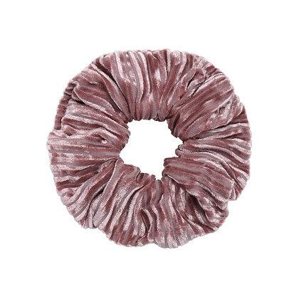 Scrunchie Velvet crushed pink