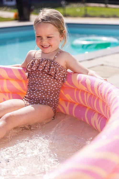Zebra roze zwembad - ⌀150cm