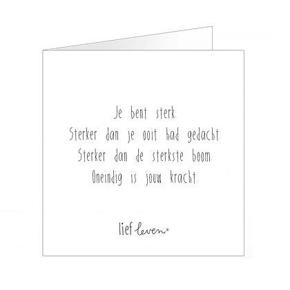 Wenskaart • Je bent sterk (pre-order*)