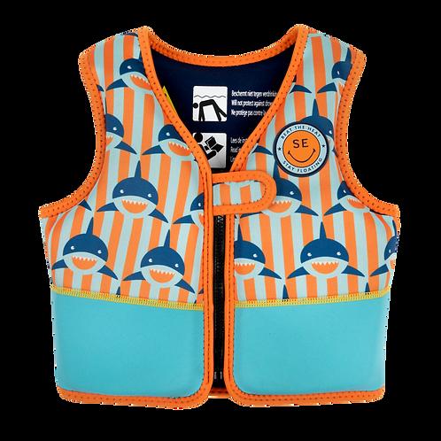 Orange Blue Shark - Foam Swimming Vest
