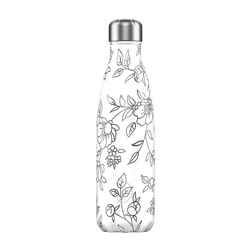 Chilly's Bottle 500ml Line Art Floral