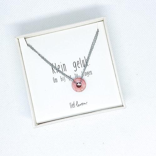 Armband steen roze • Liefde (zilver)