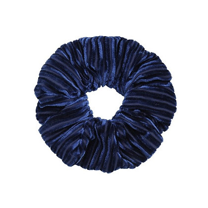 Scrunchie Velvet crushed blue