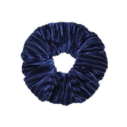 Scrunchie Velvet crushed blue