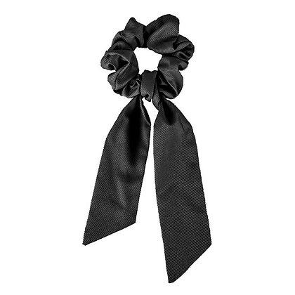 Scrunchie with ribbon black