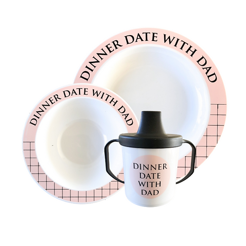 Servies - Dinner Date With Dad (Pink)