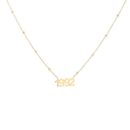 Necklace - Year of Birth (gold)*