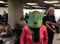 Vivência com máscaras.