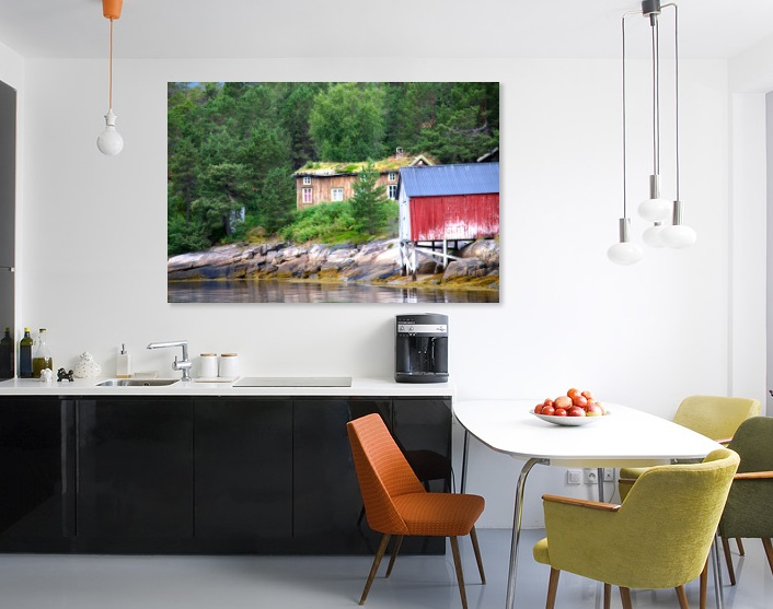 wallphoto - gammelt hus kitchen
