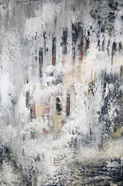 """""""Nights in White Satin II"""" oil/mixed"""