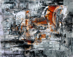 """""""Night Music I"""" oil and cold wax"""