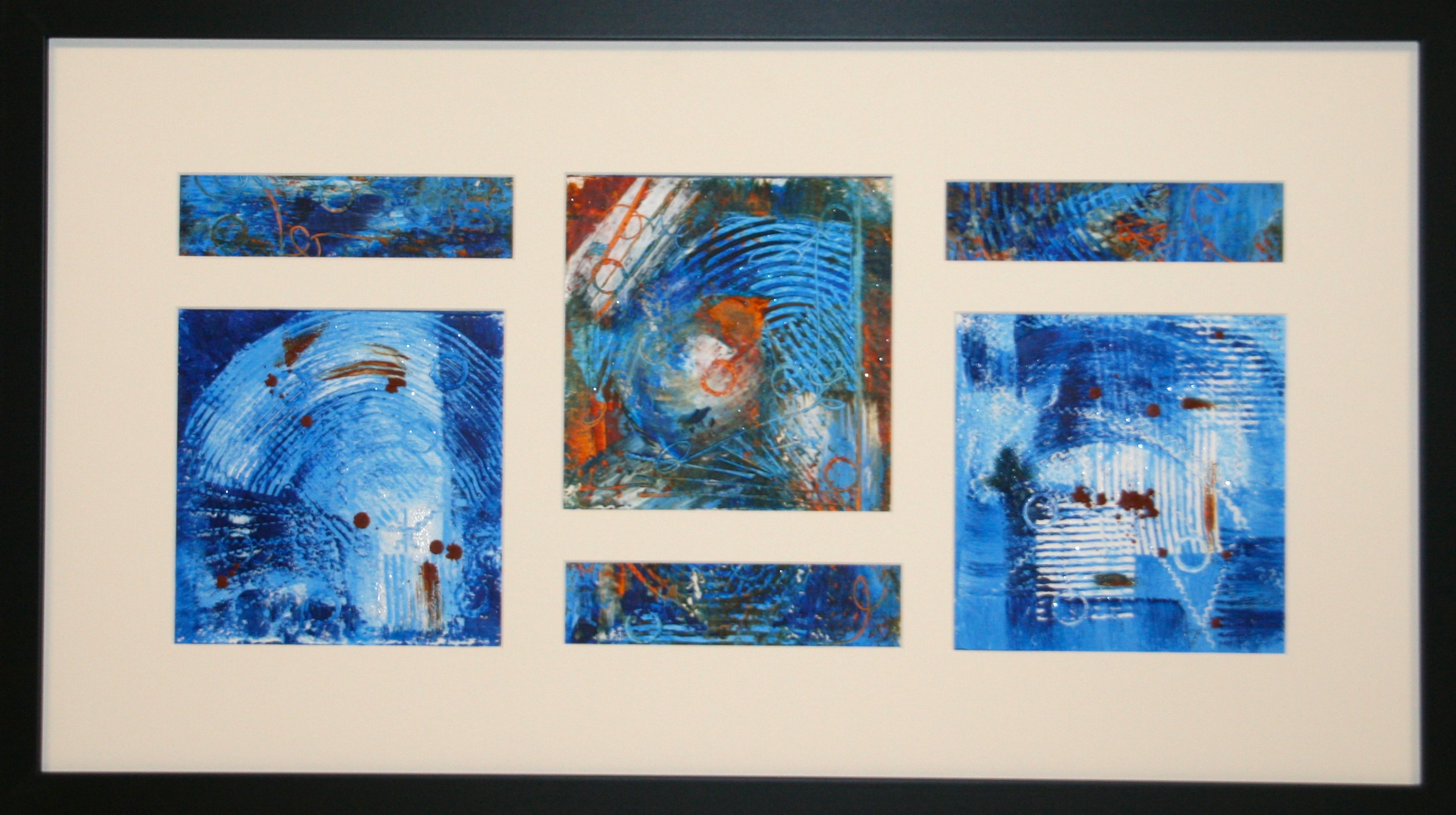 """Blue on Blue II"" framed"