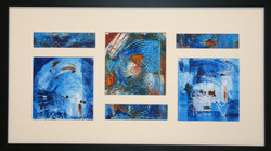 """""""Blue on Blue II"""" framed"""