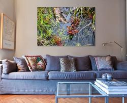 wallphoto - blue sofa