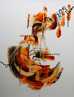 """""""Lines that Connect I"""" oil/coldwax"""