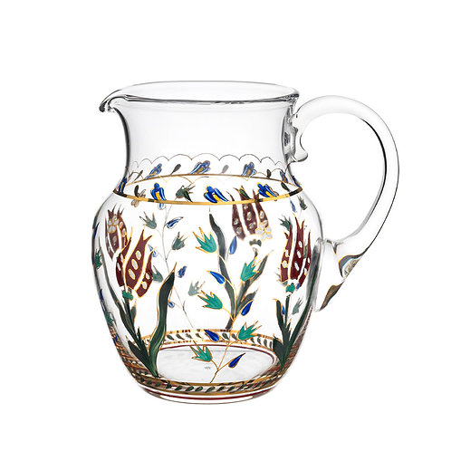 Pitcher  Persian Flowers Handpainted B