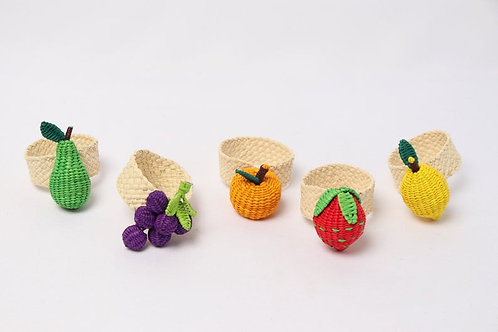 Napkin ring handwoven fruits (10pcs)
