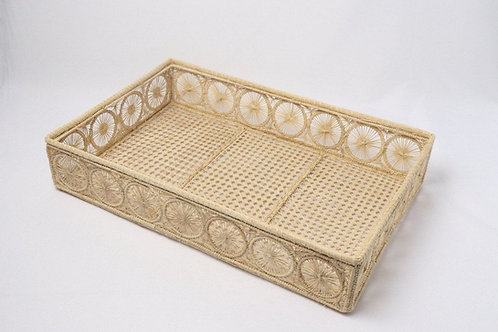 Tray handwoven rectangular