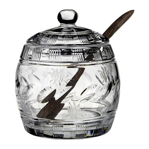 Honey Jar with Spoon handmade crystal