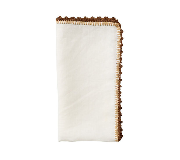 Napkin in white, natural and brown (set of 8)