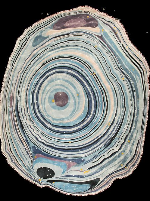 Rug Germano-brasileiro « Agata Blue Lace» by David Elia (Sahrai)