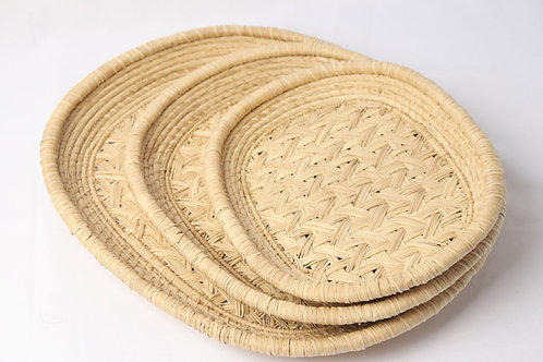 Trays handwoven in iraca palm (3pcs)