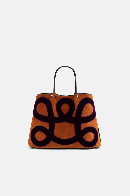 Bag in Leather and Velvet