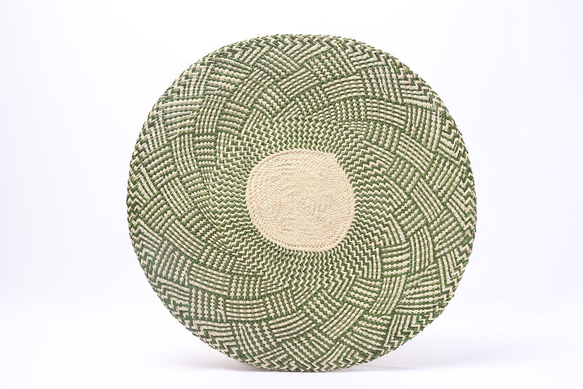 Placemat handwoven green  (8pcs)