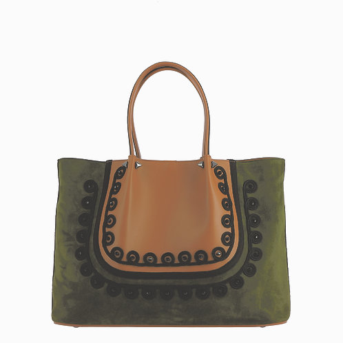 Bag in Leather and Suede