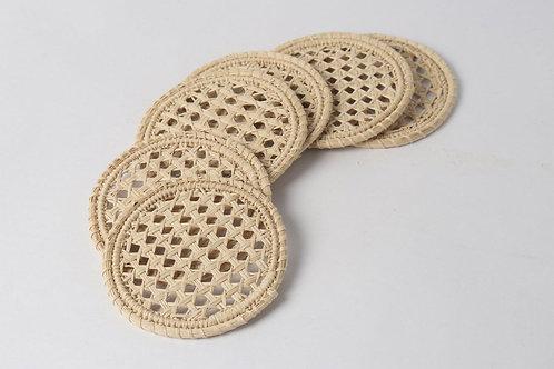 Coaster nest handwoven round (8pcs)