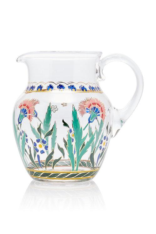 Pitcher Persian Flowers Handpainted C