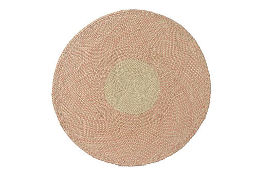 Placemat handwoven salmon pink (8pcs)