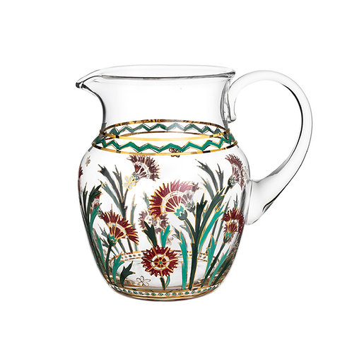 Pitcher Persian Flowers Handpainted A