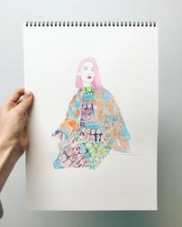 Fashion Illustration - La Double J