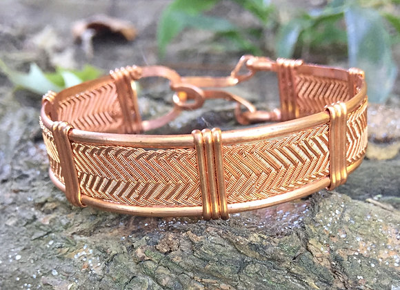 Copper Herringbone
