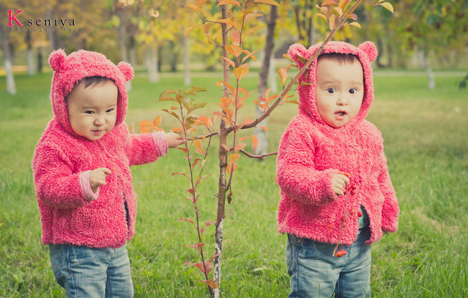 A photosession for twins