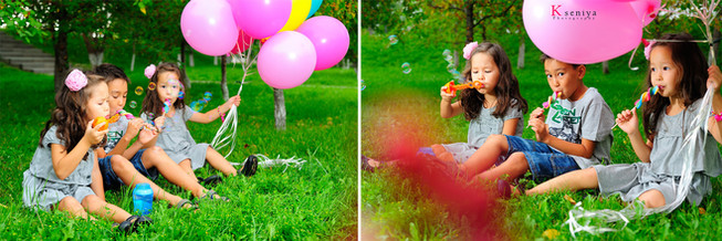 Kids in a Park photoshoot