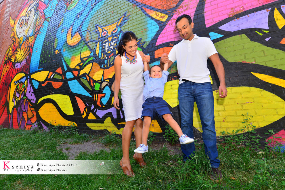 Family in the city Photo session