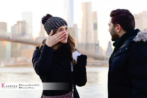 Brooklyn Bridge Proposal Photography
