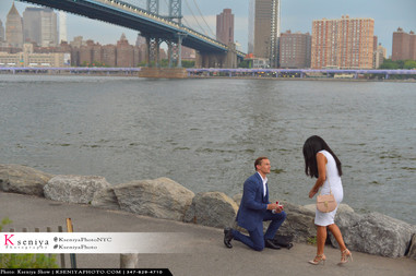 Paparazzi Surprise Proposal Photos in NYC