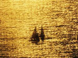 Boats at Sunset WM.jpg